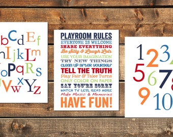 play room rules etsy