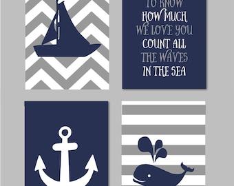"Whale Nursery, Nautical Nursery Boy, If You Want to Know, Nautical Wall Art, Nautical Nursery Art, Sailboat Anchor Printable 5""x7"""