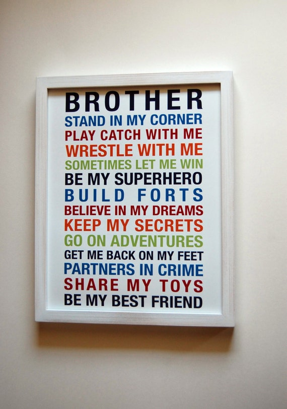 Brothers Wall Art Printable Boys Room Decor Print Big Brother | Etsy