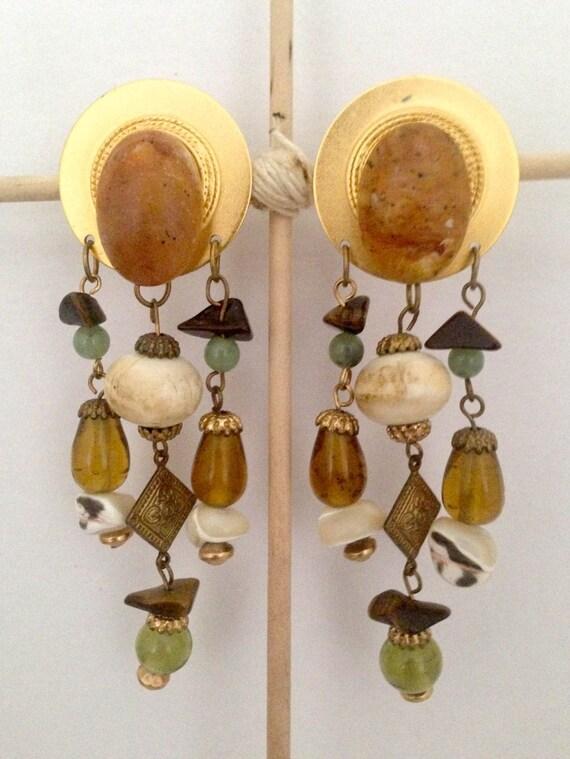 Vintage Dangle Statement Earrings Vintage