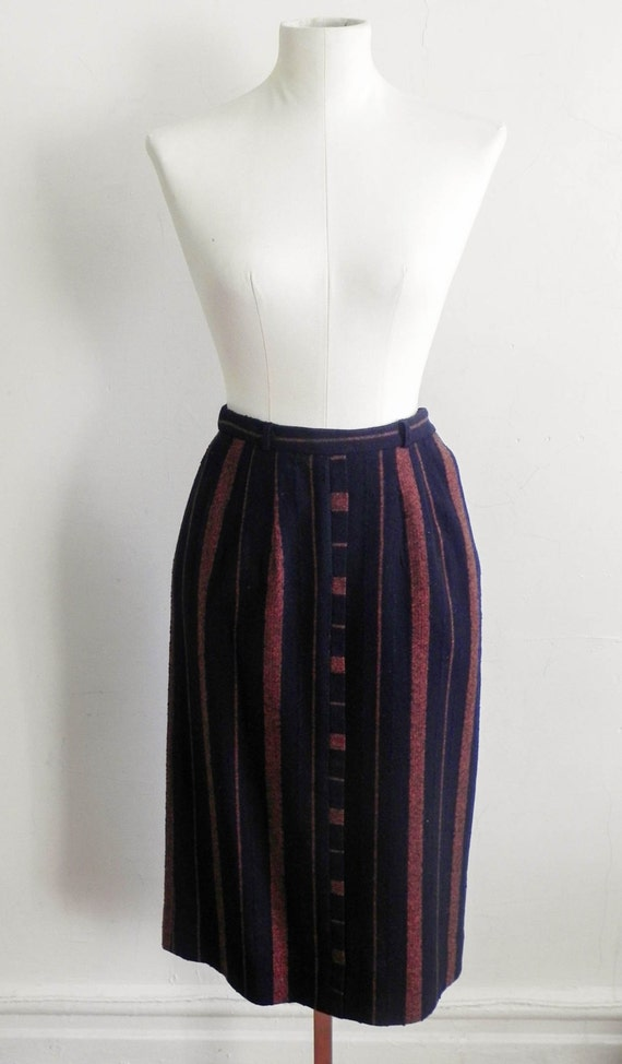 Vintage Women's Midi Skirts Post War Style Tweed P