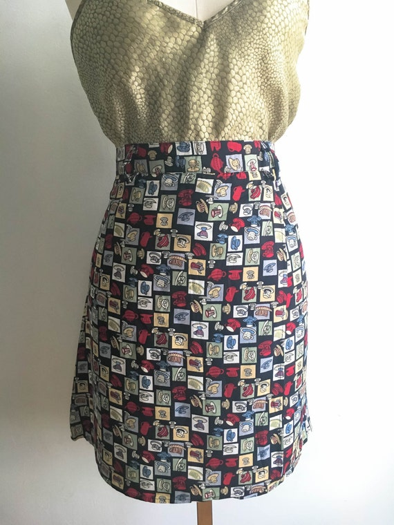 90s Women's Vintage Novelty Skort Shorts