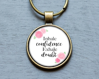 Inspirational Keychain, Affordable Gifts For Her Confidence Jewelry Weight Loss Gifts Anxiety Jewelry Gifts Under 20 Graduation Gifts