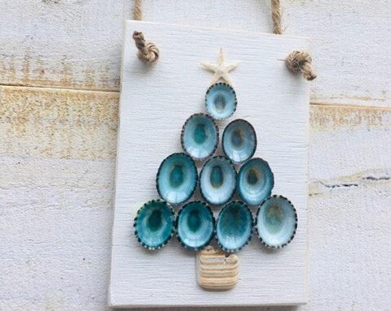Christmas Tree Shell Ornament ~ Coastal Christmas Gift ~ Teachers Gift ~  Holiday Decor ~ Home Decor ~ Coastal ~ Beach ~ Shore ~ Starfish