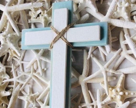 Wood Wall Cross ~ Baptism First Holy Communion Confirmation Dedication Wedding Gift ~ Religious Gift ~ Boy or Girl Nursery Room Decor