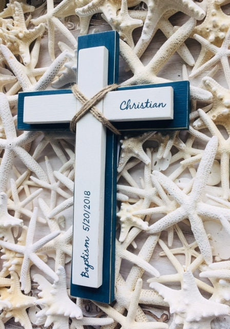 Custom wood wall cross personalized baptism first communion gift custom wood wall cross personalized baptism first communion gift godparent confirmation religious gift boy baptism girl baptism negle Image collections