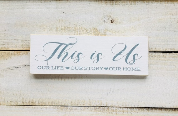This Is Us Wood Sign ~ Wedding ~ Wedding Shower ~ Anniversary ~ Bridal Shower ~ Bride ~  ~ Beach House Sign ~Christmas Decor Holiday Gift