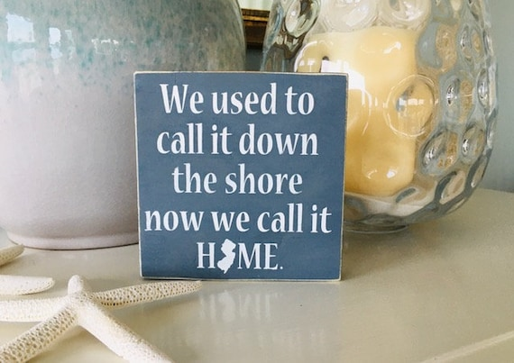 New Jersey Wood Sign ~ Custom Rustic Shore Sign ~ Housewarming Gift ~ Down The Shore Sign ~ New Jersey Wall Art ~ Ready To Ship!