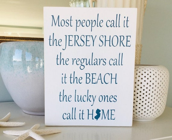 New Jersey Wood Beach Sign ~ Jersey Shore ~ Customize Your Colors! Cause Down The Shore Everything's Alright NJ