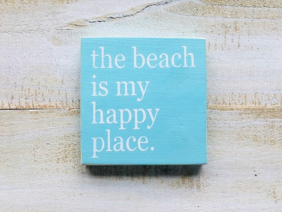 The Beach Is My Happy Place ~ Shore Sign ~ Coastal Wall Art ~ New Jersey Shore ~ Florida ~ Beach Sign