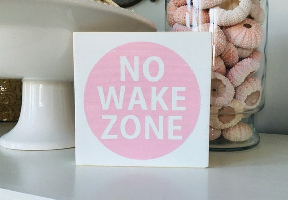 No Wake Zone Nautical Nursery Wall Wood Sign  ~ Baby Boy or Girl Nursery ~ Custom Gifts ~ Kids Bedroom Decor ~ Baby Shower Gift ~ Beach Baby