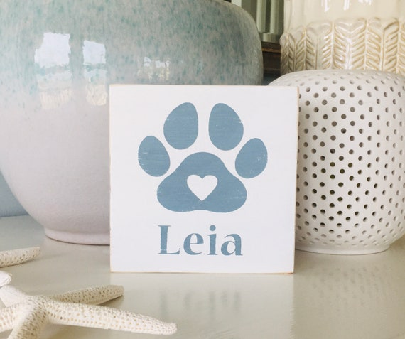 Custom Dog Sign ~ Paw Print Sign ~ Dog Gift Idea ~ Dog Owner Holiday Gift Idea ~ Dog Love Sign ~ You Me and the Dog ~ Personalized Dog Name