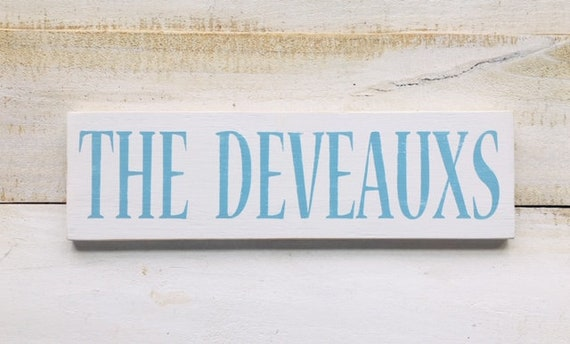 """Custom Wood Sign ~ Customize Your Colors! ~ 24"""" x 5.5"""""""