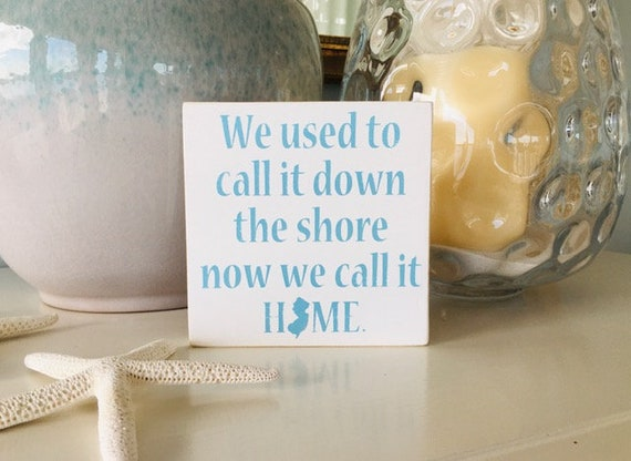 New Jersey Wood Sign ~ Custom Rustic Shore Sign ~ Housewarming Gift ~ Down The Shore Sign ~ New Jersey Wall Art