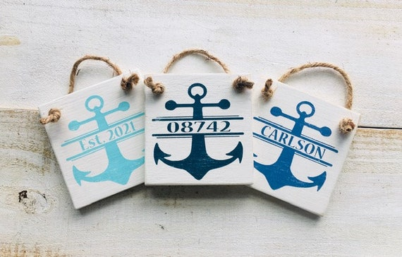 Custom Ornament ~ Zip Code ~ Family Name ~ Established Date ~ Town ~ Personalized Sign ~ Hanging Plaque