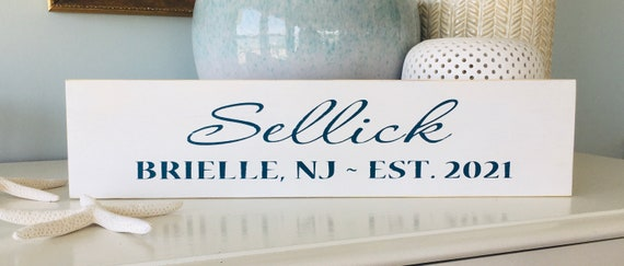Custom Family Name Wood Sign With Established Date ~ Personalize Your Own!