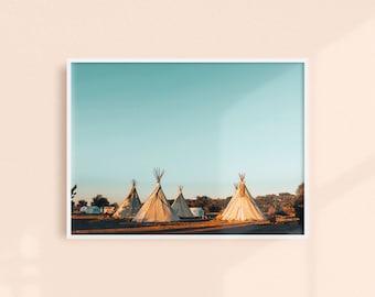 El Cosmico Tipis, Texas Photography Print