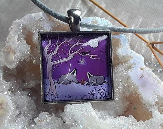 Badger Necklace - Badger Pendant - Badger Lovers Gift - Badger Jewellery