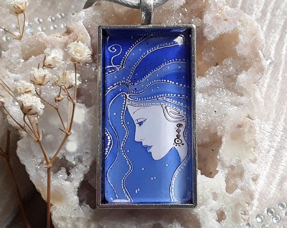 Night Goddess Pendant - Goddess Necklace - Pagan - Wiccan -Spiritual - Goddess Jewellery