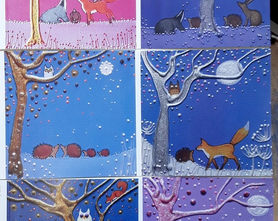 The Hedgehog Collection - Hedgehog cards - Set of Cards - Hedgehog Art
