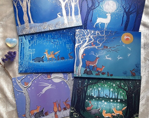The Mystical Enchantment Collection - Hare Cards - Stag - Woodland Cards