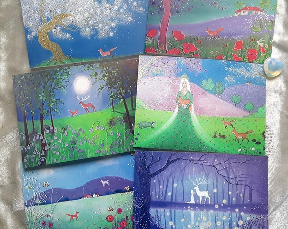 The Enchanted Spring Collection - Spring Cards - Blossom - Goddess - Beltane