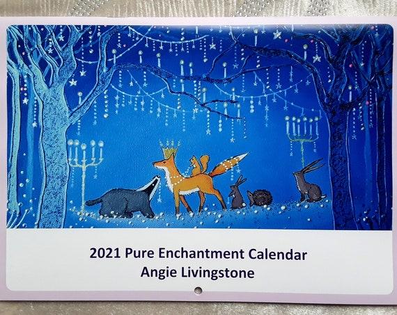 2021 Calendar - Mystical Calendar - Spiritual Calendar - Art Calendar