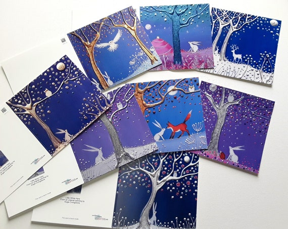 Christmas Cards - Hare Cards - Hare Christmas - Yule Cards - Winter - Mystical