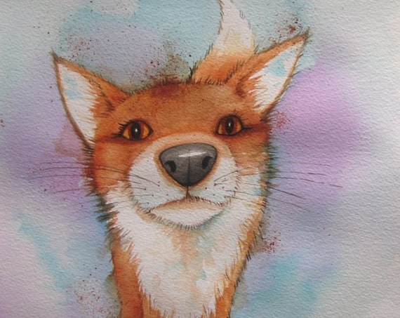 Nosey Fox - Art print - Fox Art - Cute fox - Humerous Fox
