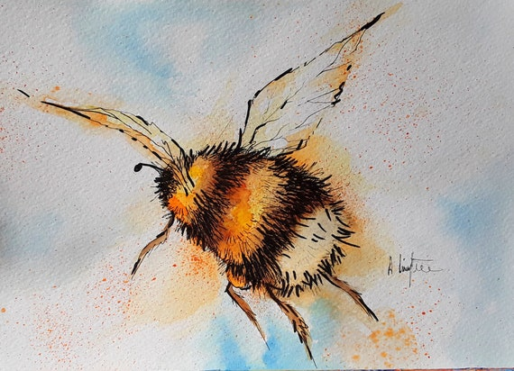 Bee - Very high quality A4 Art print