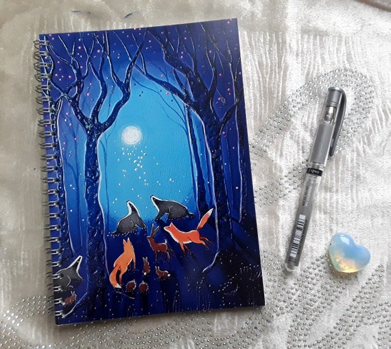 Badger Notebook - Fox Notebook - Arty Gift - Stocking Filler - A5 Notebook
