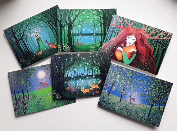 Mystical Forest Cards - Greenwood - Goddess - Pagan - Wiccan - Spiritual - Mystical