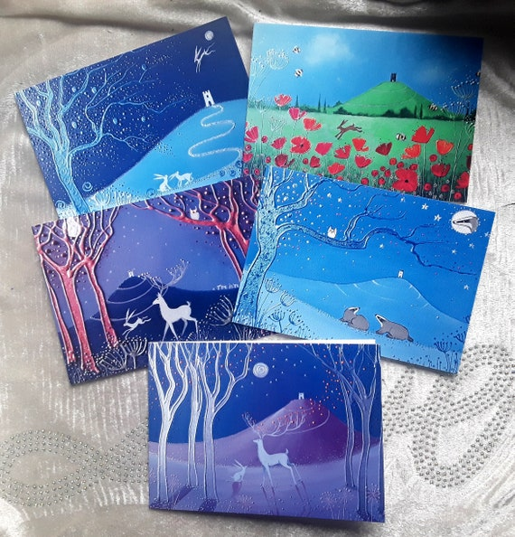 Mystical Tor Cards - Glastonbury tor - Avalon - Wiccan - Pagan