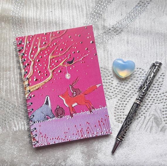 Badger and Fox Notebook - Woodland Notebook - Mystical Notebook - Journal