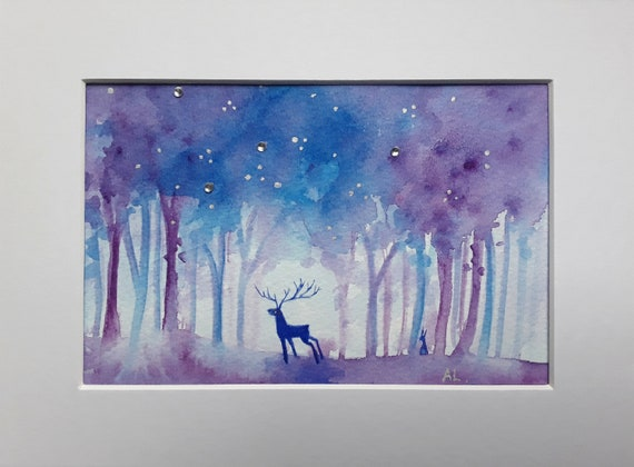 Ethereal Forest - Stag Art - Woodland - Spiritual - Mystical