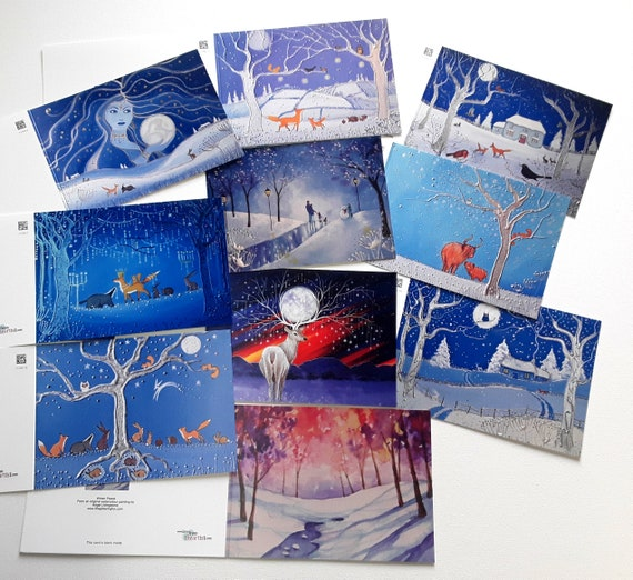 Mystical Christmas Cards - Yule Cards - Christmas Cards
