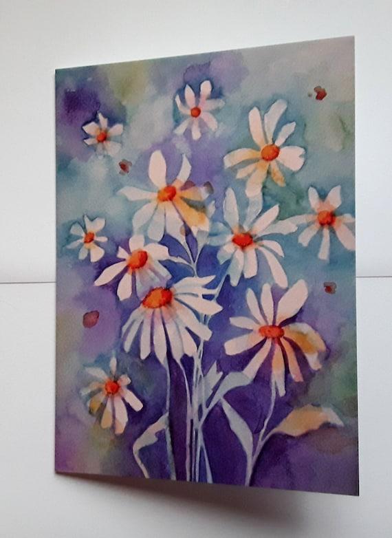 Dancing Daisies high quality art card