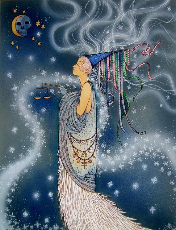 Winter Goddess card - Goddess Art - Snow Goddess