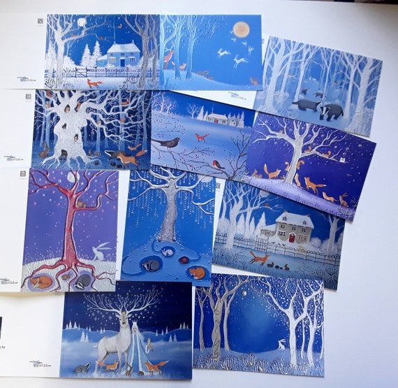 Mystical Christmas Cards - Yule Cards - Christmas Cards - Pagan - Wiccan - Spiritual