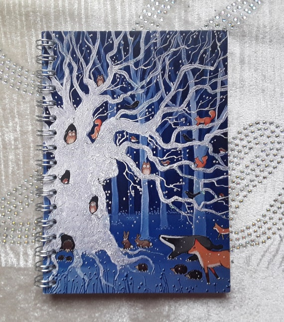 Mystical Oak Tree Notebook - Journal - Jotter - Pagan - Wiccan - Arty Gift