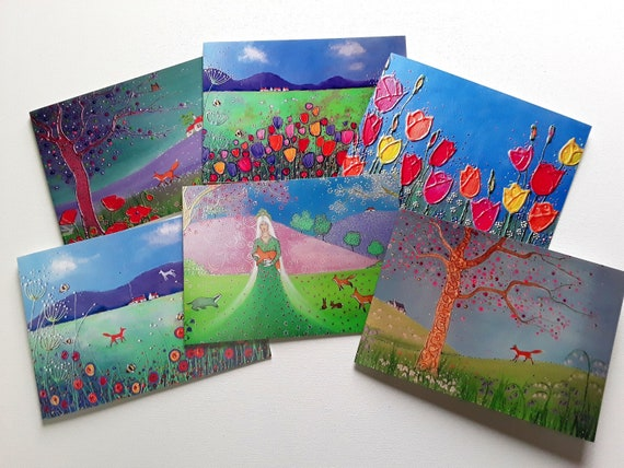 Mystical Spring Cards - Spring - Pagan - Wiccan - Art Cards - Spring Blossom