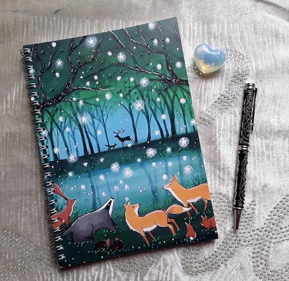 Mystical Notebook - Woodland Journal - Fox Notebook - Woodland Animals Notebook