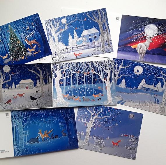 Mystical Christmas Cards - Christmas 2021 - Yule Cards - Xmas cards - Festive Cards