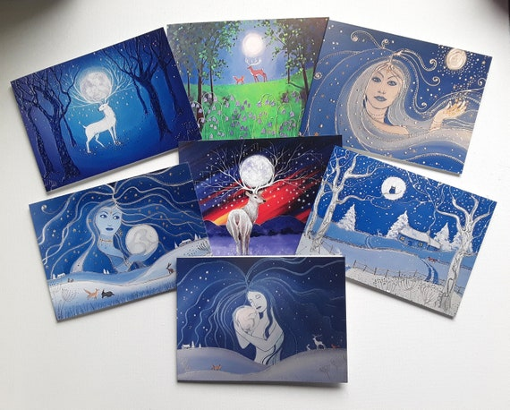 Mystical Moon Cards - Goddess - Moon - Pagan - Wiccan - Moon cards