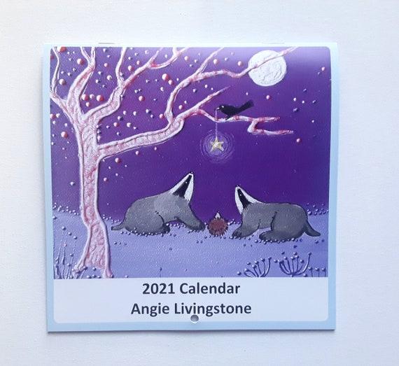 2021 Calendar - Mystical Calendar - Square Calendar