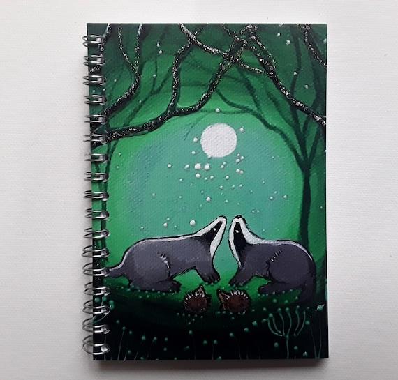 Badger Notebook - Badger Journal - Arty Gift - Jotter - Writers Gift