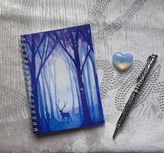 Mystical Forest Notebook - Stag Notebook - Journal - Jotter