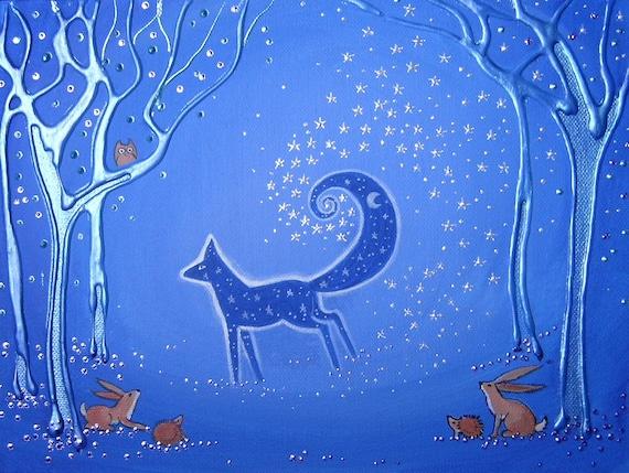 Fox Spirit - Fox Art - Mystical Art - Spiritual Art - Fox