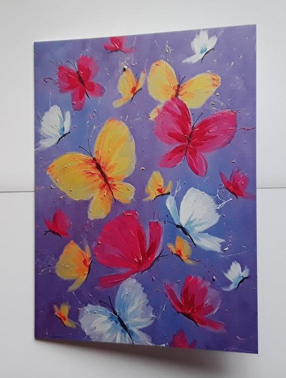 Dancing Butterflies high quality art card