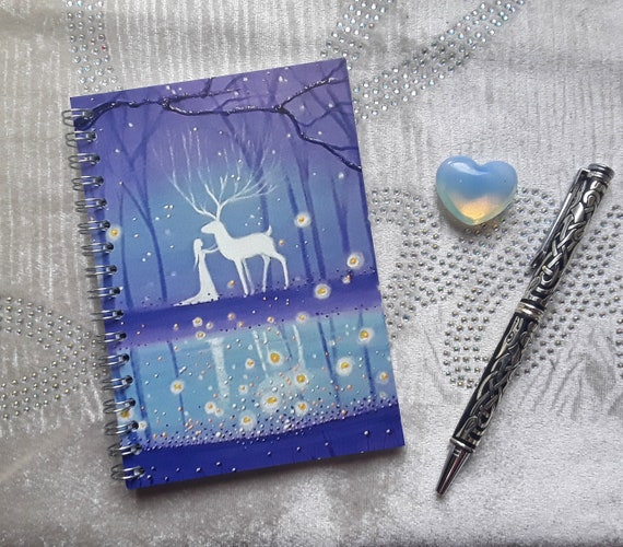 Mystical Pool Notebook - Stag Notebook - Goddess Notebook - Journal - Arty Gift